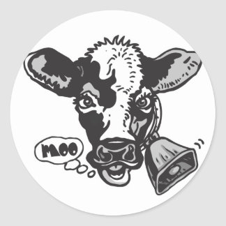 Moo Cow by Mudge Studios Classic Round Sticker
