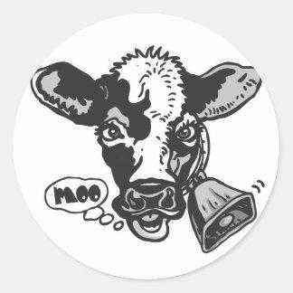 Moo Cow by Mudge Studios Round Sticker