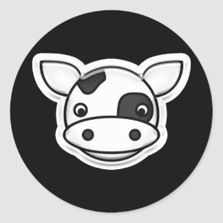 Moo Cow Classic Round Sticker