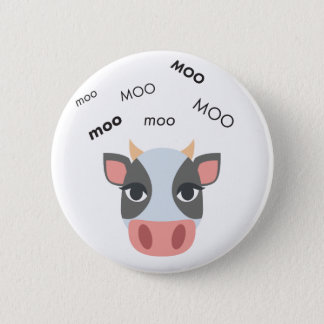 Moo Cow Cute Emoji 2 Inch Round Button