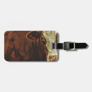 Moo Cow Luggage Tag