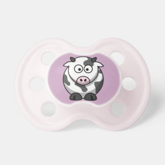 Moo Cow on a Pale Purple Background Pacifier