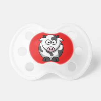 Moo Cow on a Red Background Pacifier