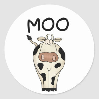 Moo Cow Tshirts and Gifts Round Sticker