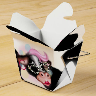 MOO FACE CARTOON Take Out Box Party Favor Box
