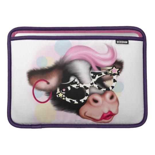 """MOO FACE COW CARTOON Macbook Air 11"""" Sleeve For MacBook Air"""