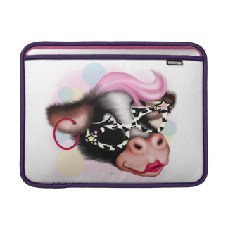 "MOO FACE COW CARTOON Macbook Air 13"" MacBook Sleeve"