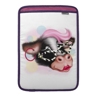 "MOO FACE COW CARTOON Macbook Air 13 "" MacBook Sleeve"