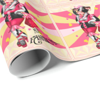 MOO FASHION COW CARTOON Wrapping Paper 2