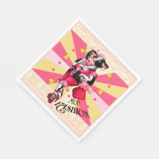 MOO FASHION LOVE COW  NAPKINS White Paper Napkin