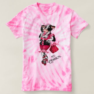 MOO FASHION Women's Champion Women's Cyclone Tie-D T-shirt