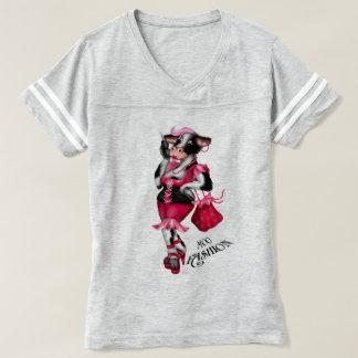 MOO FASHION Women's Champion Women's Football T-Sh T-shirt