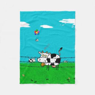 Moo Fleece Blanket