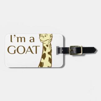 moo im a goat luggage tag