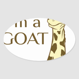 moo im a goat oval sticker