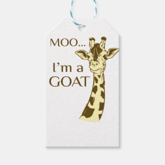 moo im a goat pack of gift tags