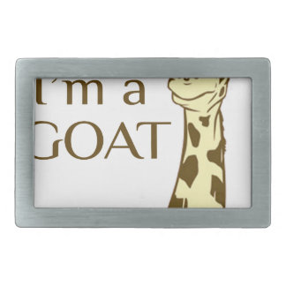 moo im a goat rectangular belt buckle