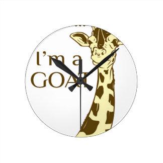 moo im a goat round clock