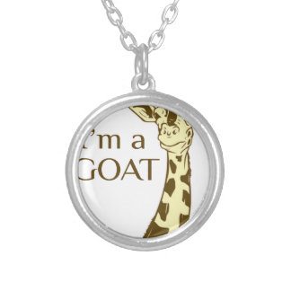 moo im a goat silver plated necklace