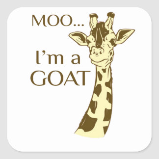 moo im a goat square sticker