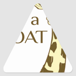 moo im a goat triangle sticker