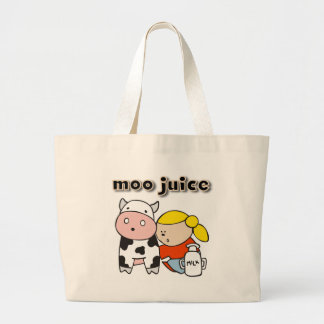 Moo Juice Tshirts and Gifts Large Tote Bag