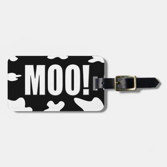 Moo! Luggage Tag