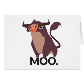 Moo, mean cow design card