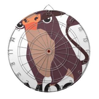 Moo, mean cow design dartboard
