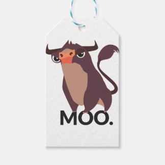 Moo, mean cow design gift tags