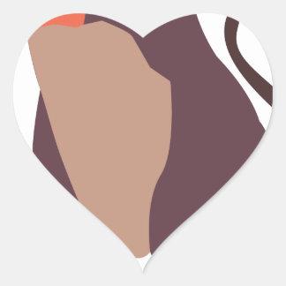 Moo, mean cow design heart sticker