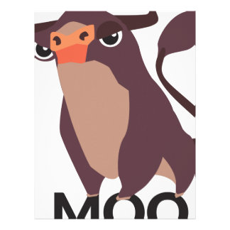 Moo, mean cow design letterhead