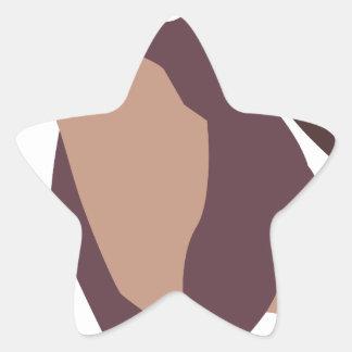 Moo, mean cow design star sticker