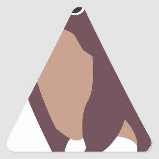 Moo, mean cow design triangle sticker