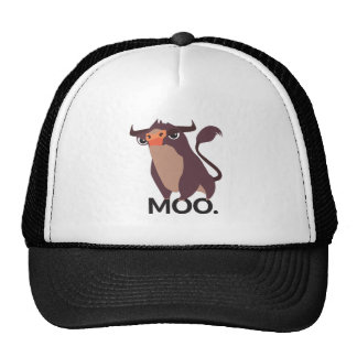 Moo, mean cow design trucker hat