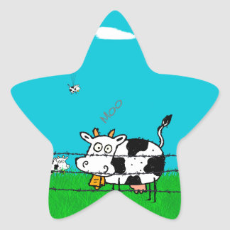 Moo Star Sticker