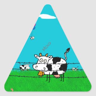 Moo Triangle Sticker