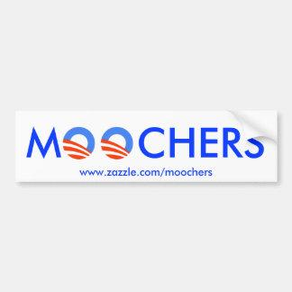 Moochers bumper sticker on white