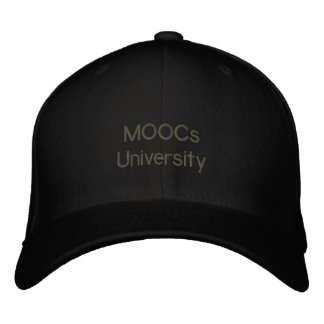 """""""MOOCs U"""" Revolution Cap - Education for All Embroidered Hat"""