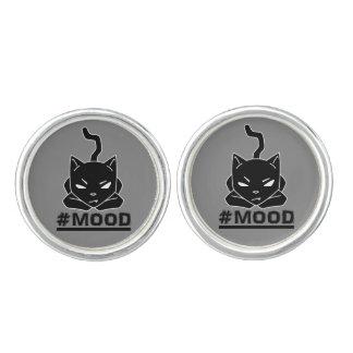 #MOOD Cat Black Logo Illustration Cufflinks