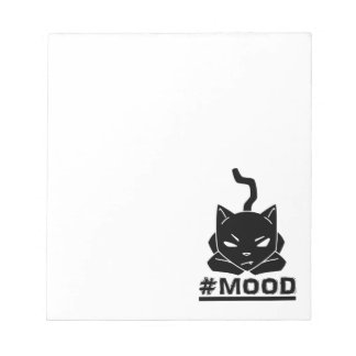 #MOOD Cat Black Logo Illustration Notepad