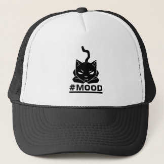 #MOOD Cat Black Logo Illustration Trucker Hat