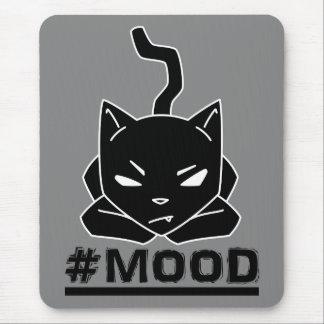 #MOOD Cat Black Mouse Pad