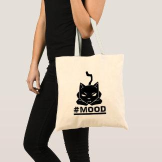 #Mood Cat Black Tote Bag