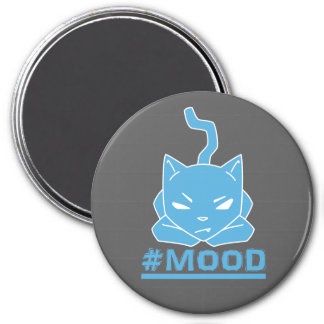#MOOD Cat Blue Logo Illustration Magnet