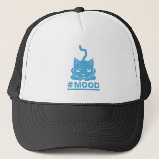 #MOOD Cat Blue Logo Illustration Trucker Hat