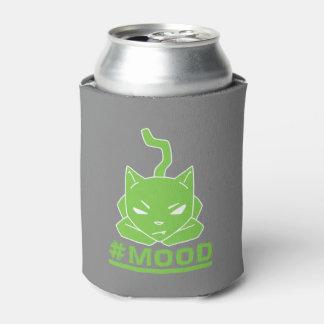 #MOOD Cat Lime Logo Illustration Can Cooler