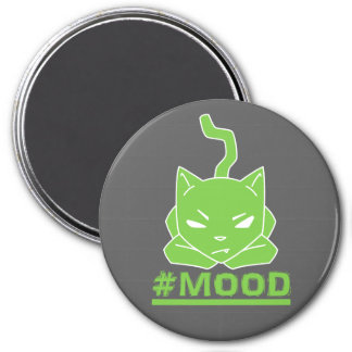 #MOOD Cat Lime Logo Illustration Magnet
