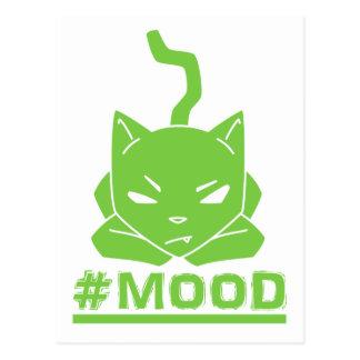 #MOOD Cat Lime Logo Illustration Postcard
