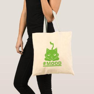 #MOOD Cat Lime Logo Illustration Tote Bag